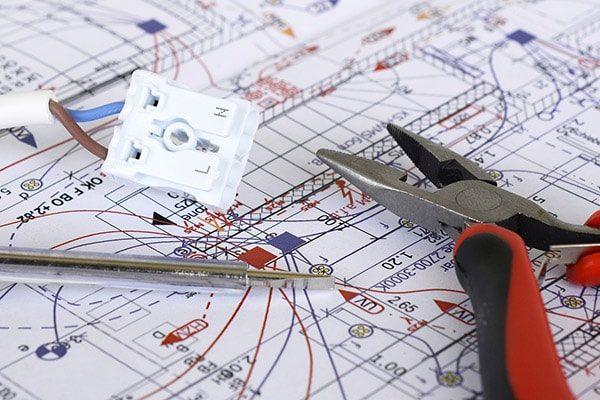 elektriker viborg - el-entreprise plantegning ledning